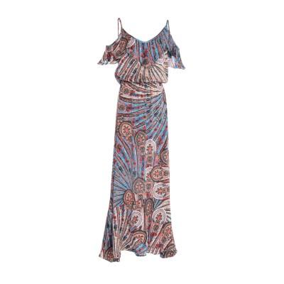 MISS BIKINI LUXE ロングワンピース&ドレス ブルー 42 ポリエステル 100% ロングワンピース&ドレス