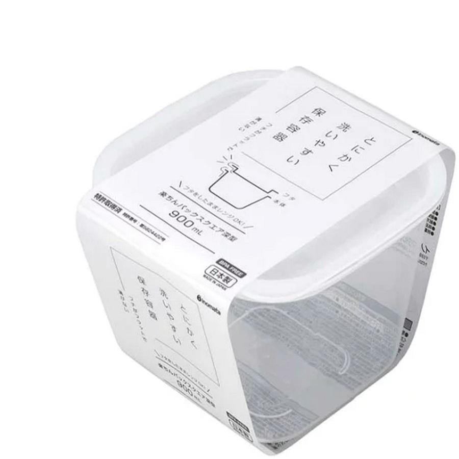 日本製帶蓋可微波保鮮盒(900ML)