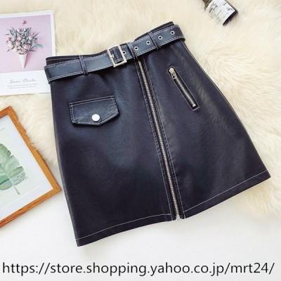 PU レザー 可愛い フェイクレザー ボトムス 20代 30代 40代レディース スカート レザースカート ショート丈 ミニスカート 韓国風 無地 合わせやすい