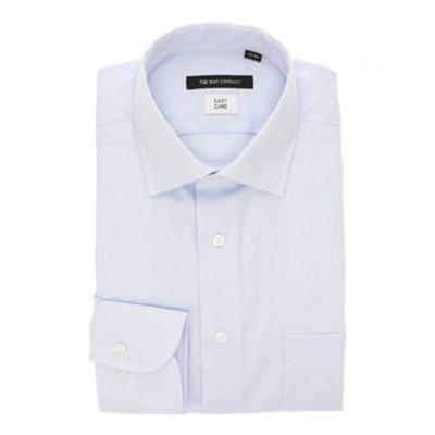 【再生繊維】ワイドカラードレスシャツ 織柄 〔EC・BASIC〕