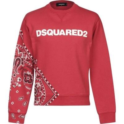 ディースクエアード DSQUARED2 メンズ スウェット・トレーナー トップス sweatshirt Red
