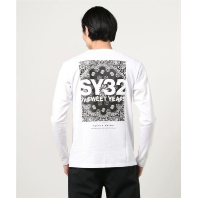 tシャツ Tシャツ SY32 by SWEETYEARS /エスワイサーティトゥバイ スィートイヤーズ /PAISLEY BACK PRINT L/S