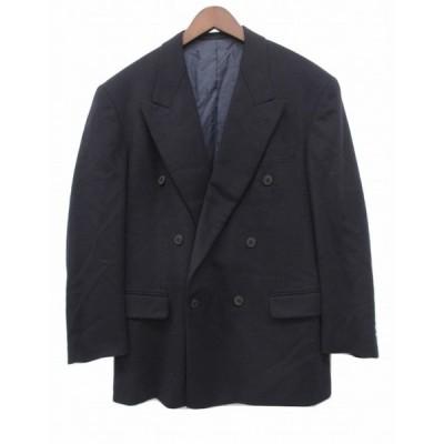 【中古】ベローチェ CVELOCE ウールダブルジャケット AB5 黒 ブラック 大きいサイズ 毛 カシミア混 裏キュプラ混 メンズ 【ベクトル 古着】