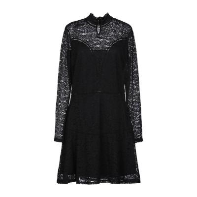 ゲス GUESS ミニワンピース&ドレス ブラック L ナイロン 71% / コットン 25% / ポリウレタン 4% ミニワンピース&ドレス