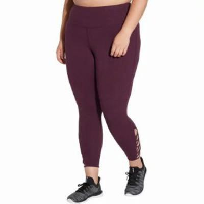 リーボック スパッツ・レギンス Plus Size Stretch Cotton Cross Ankle 7/8 Tights Heather Pacific Purple