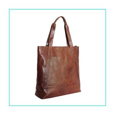 【新品】Tote Handbag For Women- Genuine Smooth Leather Carryall Shoulder Work Bag Large Fit 15inch (Boomerang)(並行輸入品)