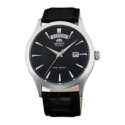 オリエント Orient 腕時計 時計 ORIENT MEN'S 41MM BLACK LEATHER BAND STEEL CASE AUTOMATIC WATCH FEV0V003BH