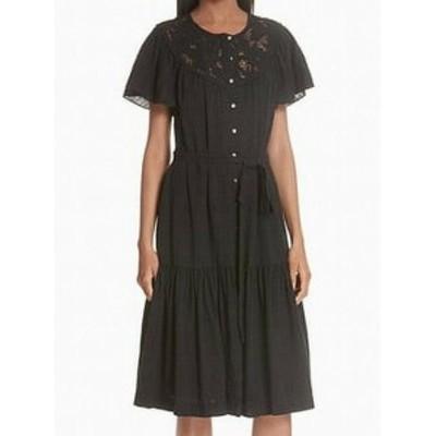 Rebecca Taylor レベッカテイラー ファッション ドレス Rebecca Taylor Cutout Embroidered Black Size Medium M Shirt Dress