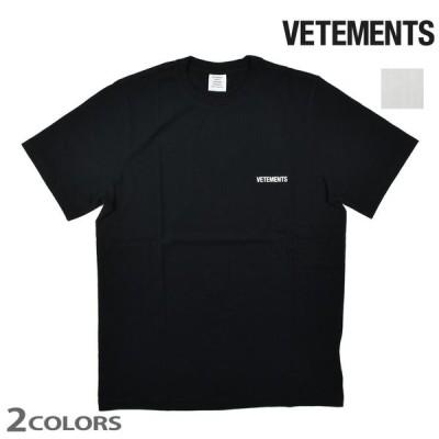 ヴェトモン Tシャツ カットソー オーバーサイズ クルーネック 半袖 ブラック ホワイト 黒 白 メンズ 父の日 ギフト 2021