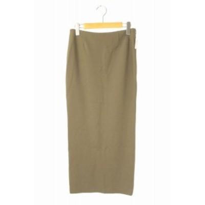 【中古】未使用品 Lisiere FEMME L'Appartement 20SS Punch Tight スカート ロング スリット 34 カーキ レディース