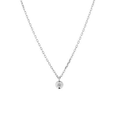 ネックレス レディース プラチナ ダイヤモンド 一粒 シンプル <鑑別カード・スコープ付> ブルーム ギフト プレゼント 普段使い