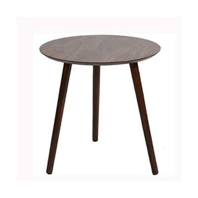 [新品]D&LE Round Solid Wood Nightstand,Simple Living Room Bedside Table Side Table,Small Sofa Coffee Table,Bed Snack Table Furniture-B