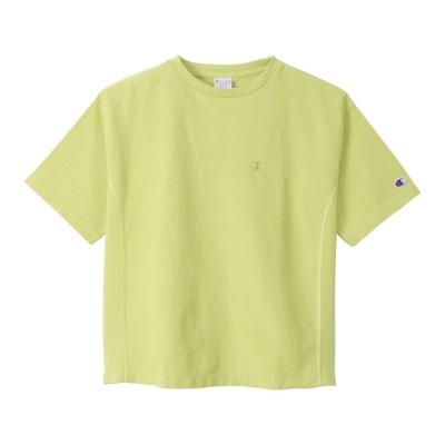 チャンピオン-ヘリテイジアウトドアリバースウィーブ ショートスリーブTシャツ CW-T307 580 半袖グリーン