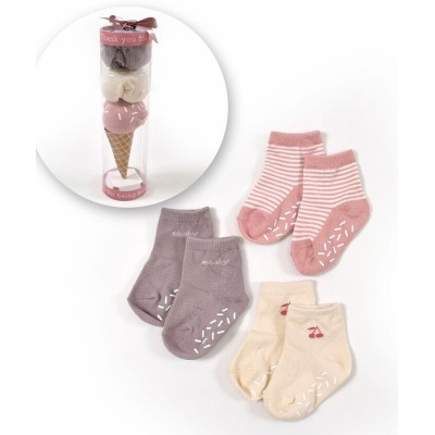 【べべオンラインストア】 ベビー アイスクリーム ソックス セット (9~12cm) キッズ ピンク ワンサイズ BEBE ONLINE STORE