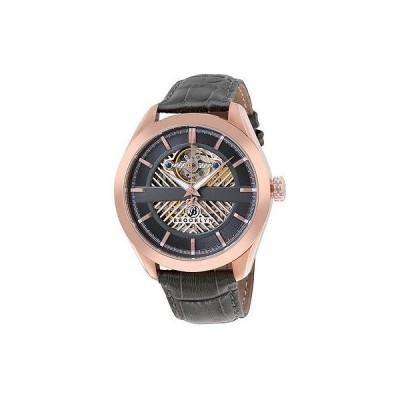ブルックリンウォッチ 腕時計 Brooklyn Pierrepont スケルトン メンズ オートマチック グレー ダイヤル メンズ 腕時計