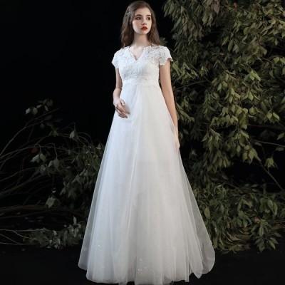 *ウェディングドレス Aライン ハイウエスト 小さい袖付 海外挙式や二次会 花嫁ドレス 1215★**ウェディングドレス専門**★ カテゴリトップ ウェディングドレス
