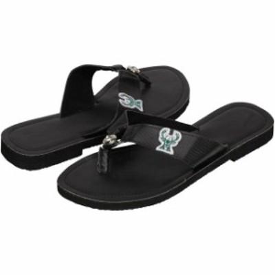For Bare Feet フォー ベア フィート スポーツ用品  Milwaukee Bucks Womens Circle Stone Flip Flops - Black