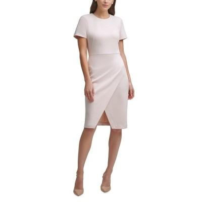カルバンクライン ワンピース トップス レディース Faux-Suede Faux-Wrap Sheath Dress Blossom