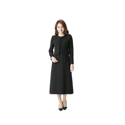 (マーガレット)marguerite m456 ブラックフォーマル 喪服 礼服 レディース アンサンブル ロング丈 (ブラック 17号)