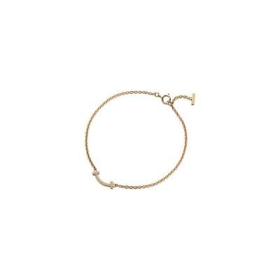 ティファニー TIFFANY ブレスレット ゴールド 18K ダイヤモンド Tモチーフ チェーン ミディアム