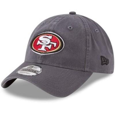 ニューエラ メンズ 帽子 アクセサリー San Francisco 49ers New Era Core Classic 9TWENTY Adjustable Hat Graphite