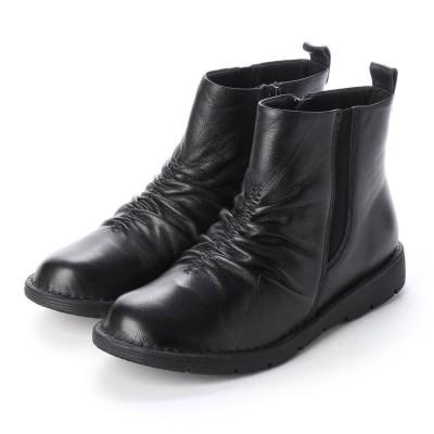 ポーターフォーチュン porter Fortune 本革アウトステッチブーツ (ブラック)