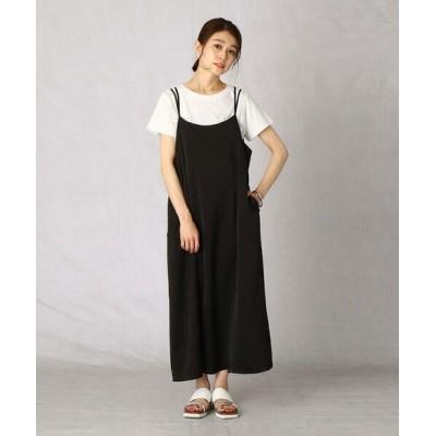 Comme ca Mature/コムサマチュア Tシャツ+キャミワンピース ブラック L