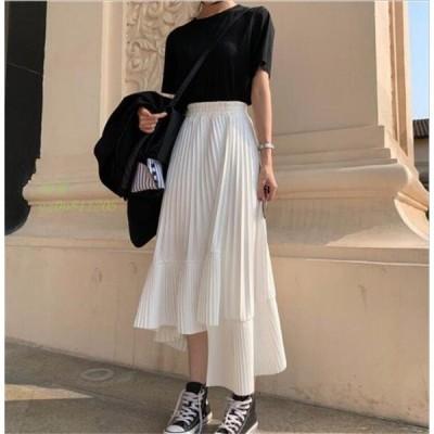 ロングスカート 春 夏 大きいサイズ スカート 体型カバー ロング フレアスカート ボトムス aライン レディース コーデ ハイウエスト シフォンスカート ゆったり