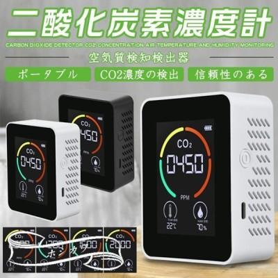 二酸化炭素濃度計 CO2濃度測定器 二酸化炭素計測器 CO2マネージャー co2濃度計 空気質検知器 温度 湿度 三密 換気 濃度測定 飲食店 商業施設 個人店舗