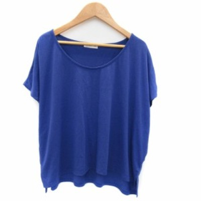 【中古】ビス ViS Tシャツ カットソー 半袖 ラウンドネック 無地 M ブルー /YK19 レディース