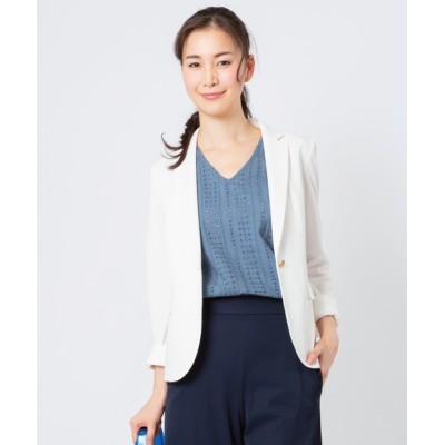 ADMIX-Japan/JETSET SOLO PLUS / リネンタッチジャージージャケット【セットアップ対応商品】 WOMEN ジャケット/アウター > テーラードジャケット