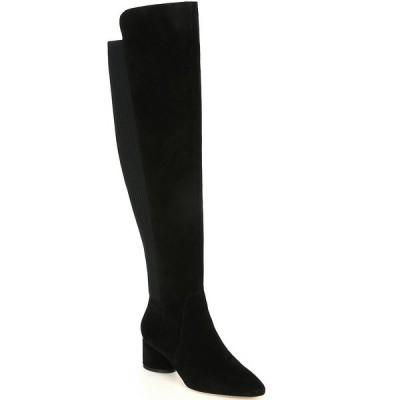 アントニオメラニー レディース ブーツ&レインブーツ シューズ Haddison Suede Over-the-Knee Block Heel Boots Black