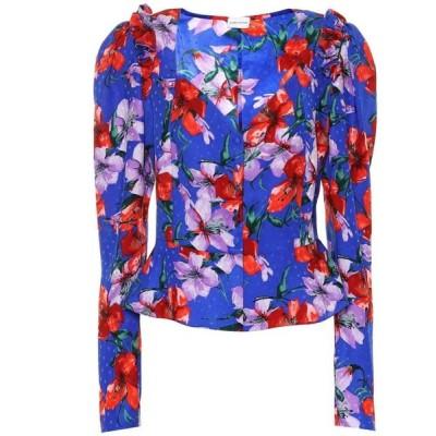 マグダ ブトリム Magda Butrym レディース ブラウス・シャツ トップス Evora silk jacquard blouse Blue