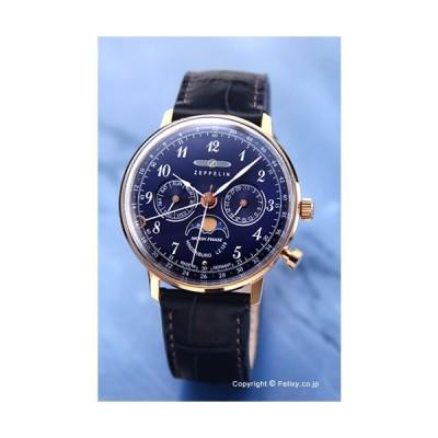 ツェッペリン 腕時計 メンズ 7039-3 LZ129 ヒンデンブルク ネイビー×ローズゴールド