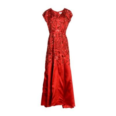 MIKAEL AGHAL ロングワンピース&ドレス レッド 12 レーヨン 53% / シルク 47% ロングワンピース&ドレス