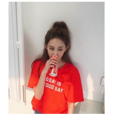 レディース 半袖Tシャツ ロゴTシャツ シンプルTシャツ