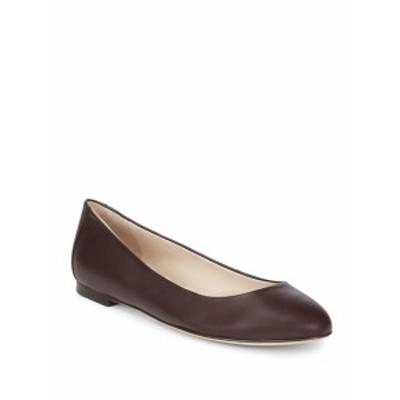 セルジオロッシ レディース フラットシューズ Round Toe Leather Ballet Flats