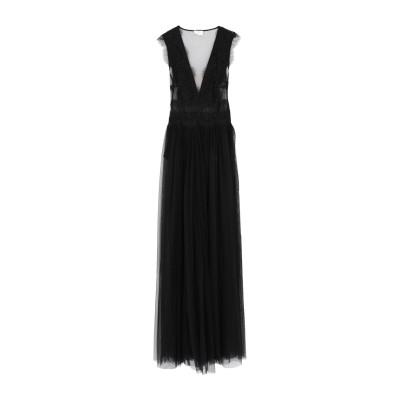 ELISABETTA FRANCHI ロングワンピース&ドレス ブラック 42 ナイロン 100% ロングワンピース&ドレス