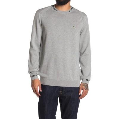 ラコステ メンズ ニット&セーター アウター Crew Neck Knit Sweater ARGENT CHINE/SINOPLE-FARI