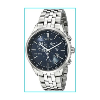 Citizen Men's Eco-Drive Chronograph Stainless Steel Watch with Date, AT2141-52L【並行輸入品】