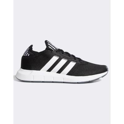 アディダス レディース スニーカー シューズ adidas Originals Swift Run Sneakers In Black