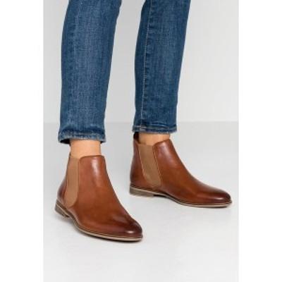 アンナフィールド レディース ブーツ&レインブーツ シューズ LEATHER BOOTIES - Ankle boots - cognac cognac