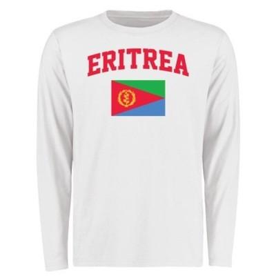 ファナティクス ブランデッド メンズ Tシャツ トップス Eritrea Flag Long Sleeve T-Shirt