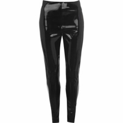 コマンドー Commando レディース ボトムス・パンツ レザーレギンス Faux Leather Patent Leggings Black