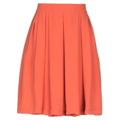 TRE PIUME ひざ丈スカート オレンジ 38 レーヨン 60% / ポリエステル 40% ひざ丈スカート