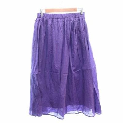 【中古】マリンフランセーズ LA MARINE FRANCAISE ギャザースカート ロング 紫 パープル /AU レディース