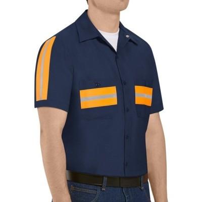 レッドキャップ シャツ トップス メンズ Red Kap Men's Enhanced Visibility Short Sleeve Shirt Navy/Orange