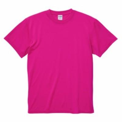 Tシャツ 半袖 メンズ ドライ コットンタッチ 5.6oz L サイズ トロピカルピンク 無地 ユナイテッドアスレ CAB