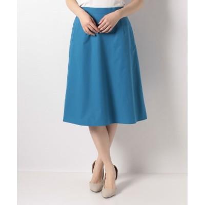 【ミス ジェイ】 マシュマロストレッチ Aラインスカート レディース ブルー 40 MISS J