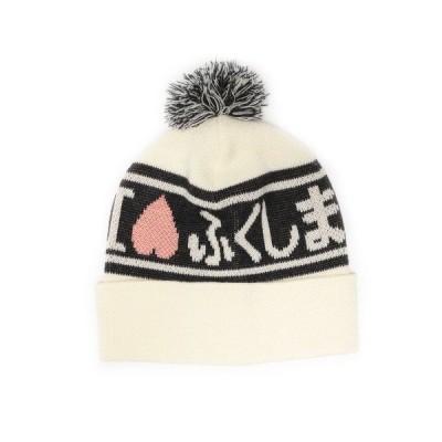 帽子 キャップ <UNISEX>RENOWN × BEAMS JAPAN / I LOVEふくしま ニットキャップ